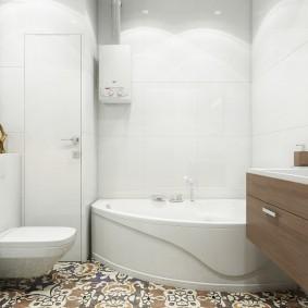 Угловая ванна из акрилового пластика