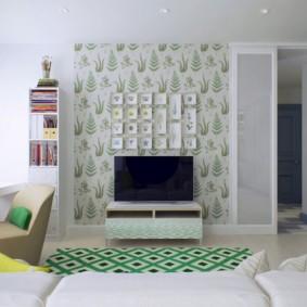 Место для телевизора в гостиной комнате