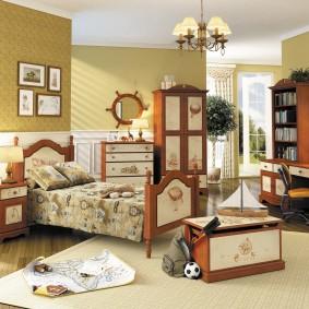 Стильная мебель из массива в детской комнате