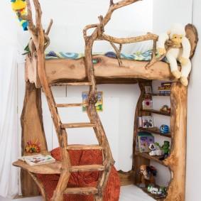 Детская мебель из веток дерева