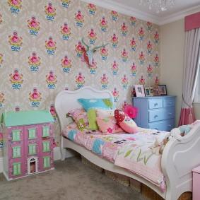 Детская кровать в стиле шебби-шик