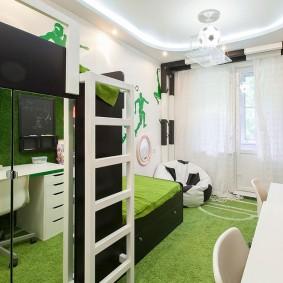 Стильная детская комната с красивой мебелью