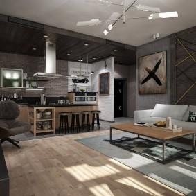 Дизайн квартиры в индустриальном стиле