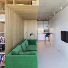 Узкая комната в квартире свободной планировки