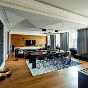Квартира студия в современном стиле интерьера