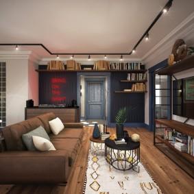 Черные софиты на белом потолке