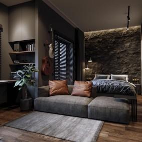 Дизайн современной квартиры в темных тонах