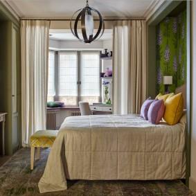 Интерьер детской спальни с эркером