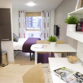Небольшая квартира с одной комнатой