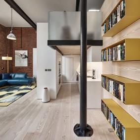 Подвесные полки для хранения книг