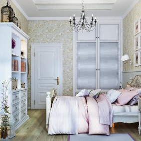Романтический интерьер жилой комнаты