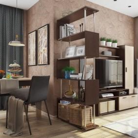 Зонирование мебелью пространства квартиры