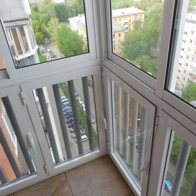 Французское окно на балконе без выноса
