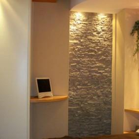 Декоративное освещение в интерьере коридора
