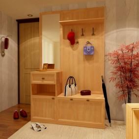 Дизайн прихожей с корпусной мебелью