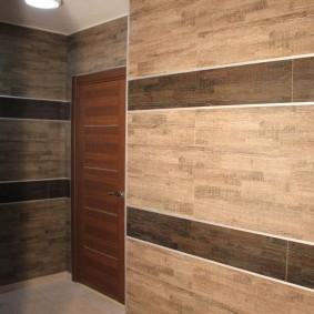 Отделка стен коридора керамической плиткой