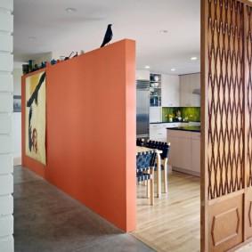 Зонирование комнаты перегородками различной конструкции