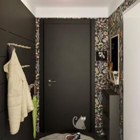 Оттенки серого цвета в интерьере коридора