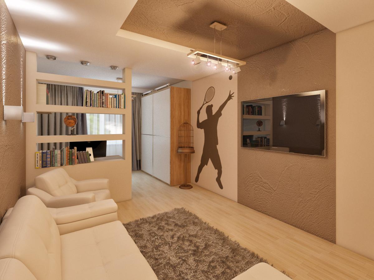 Дизайн проходной комнаты с диваном фото