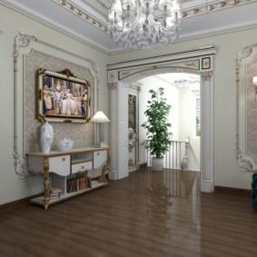Классическое оформление проходной комнаты