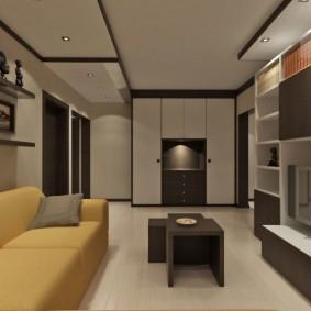 Корпусная мебель в дизайне гостиной