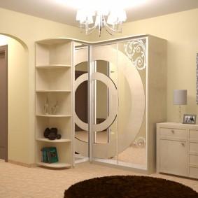 Дизайн коридора с угловым шкафом