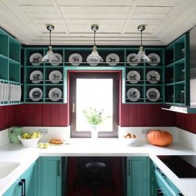 Открытые полки для красивой посуды