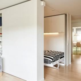 Шкаф-перегородка в квартире студийной планировки