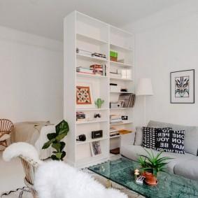 Интерьер квартиры-студии в светлых тонах