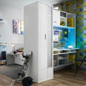 Зонирование мебелью детской комнаты