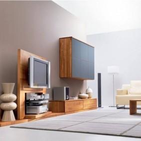 Мебельная стенка для просторного зала