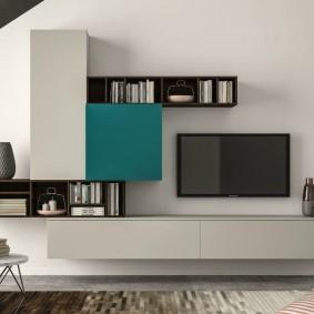 Лаконичная модель стенки в гостиную комнату