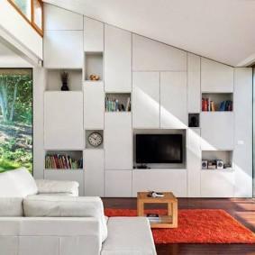 Встроенная модель стенки для зала