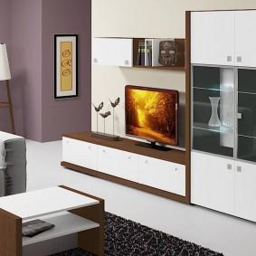 Мебельная стенка с сервантом для посуды