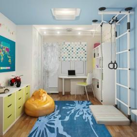 Комната для ребенка со спортивным уклоном