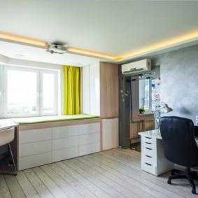 Интерьер подростковой комнаты в современном стиле