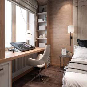 Офисное кресло в спальной комнате