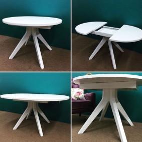 Трансформация круглого стола в овальный