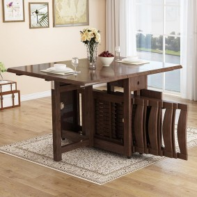 Набор складной мебели для малогабаритной гостиной