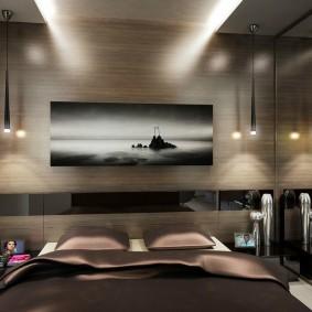 Освещение спальни небольшого размера