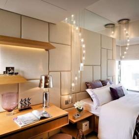 Светодиодные светильники в интерьере спальни