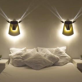 Стильные ночники в спальне родителей