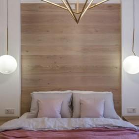 Симметрично расположенные подвесные светильники