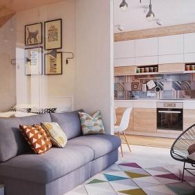 Геометрические узоры в интерьере квартиры