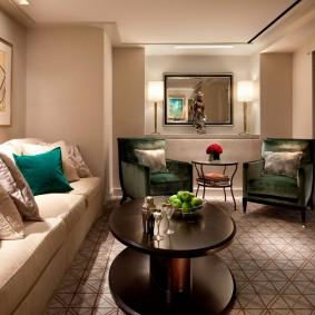 Линолеум на полу гостиной комнаты