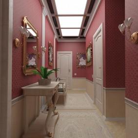 Красивый коридор в стиле классики