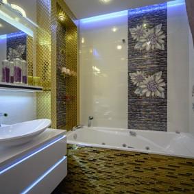 Освещение ванной комнаты в однокомнатной квартире