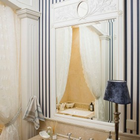 Декор ванной комнаты в стиле арт-деко