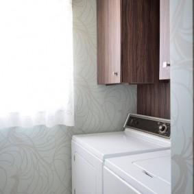 Подвесной пенал над стиральной машинкой