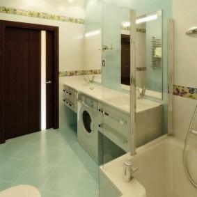 Укладка напольной плитки по диагонали в ванной